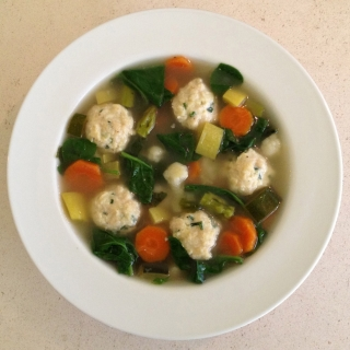 Summer Vegetable Soup with Mini Chicken Meatballs <h6>-Low Carb, Gluten Free</h6>