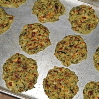 Oven Fried Zucchini Fritters <h6>-Low Carb, Gluten Free</h6>