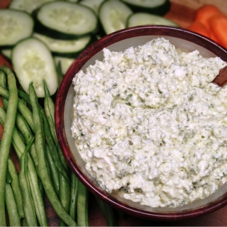 Feta Spread with Fresh Basil and Lemon