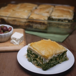 Greek Spinach Pie with Phyllo Dough