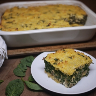Greek Spinach Pie with Cornmeal Crust <h6> -Gluten Free </h6>