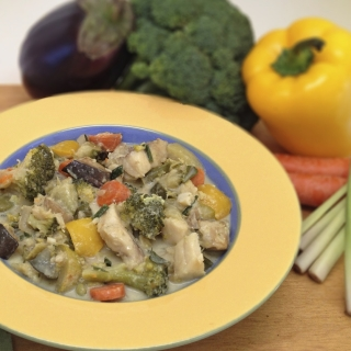 Thai Fish and Vegetable Green Curry <h6> – Low Carb, Gluten Free, Dairy Free</h6>