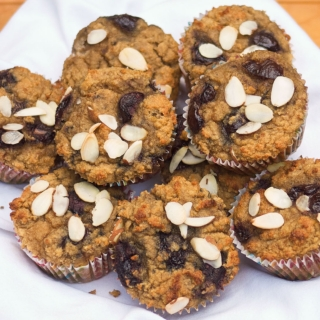 Cherry Vanilla Almond Muffins <h6> – Low Carb, Gluten Free, Sugar Free </h6>