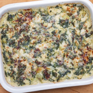 Cauliflower and Broccoli Gratin with Spinach Sauce <h6> – Lower Carb, Gluten Free </h6>