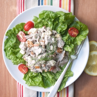 Chicken Salad with Apples, Walnuts, and Dill <h6> Low Carb, Gluten Free, Sugar Free </h6>