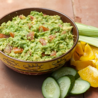 Perfect Party Guacamole <h6>Low Carb, Gluten Free, Sugar Free, Dairy Free </h6>