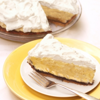 Banana Cream Pie <h6>– Lower Carb, Gluten Free, Sugar Free, Dairy Free</h6>