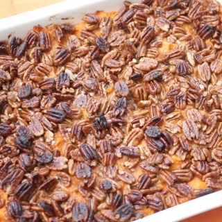 Sweet Potato Casserole with Pineapple and Pecans <h6> – Gluten Free, Sugar Free </h6>